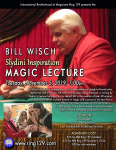 Bill Wisch Lecture at US Toy Magic Shop @ U. S. Toy Magic Shop | Overland Park | Kansas | United States